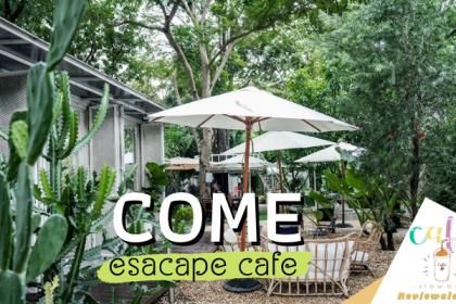 COME esacape cafe คาเฟ่ขนมเค้กน่ารัก ลึกลับ ย่านราชพฤกษ์ ที่ตกแต่งด้วยต้นไม้นานาชนิดรวมไปถึง Cactus ที่ให้ความรู้สึกแบบ tropical